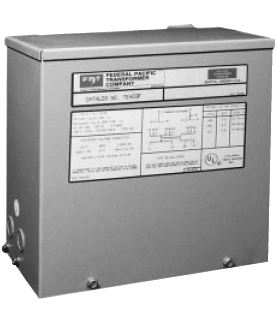 SE2N1F Federal Pacific 1.0kVA 480/120/240 Single Phase Indoor/Outdoor Transformer