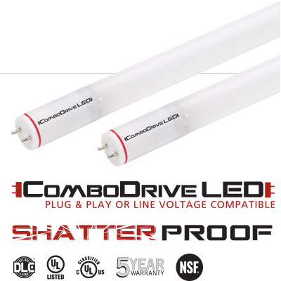 KT-LED15T8-48GC-830-X Keystone Linear LED T8 Tube Replacement, 3000K, 15W, 1800 Lumen, 4' , 220' Beam Angle, Ballast Compatible & Bypass